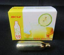 New 8g Soda Syphon Cartridges Bulbs Co2 Gas Box 10 Retro Vintage Soda Siphons