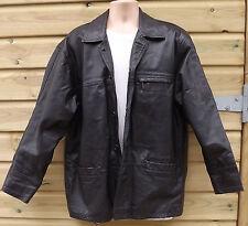 Ciro Citterio Vero Cuoio Black Leather Box Jacket - L