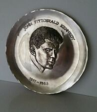 John F Kennedy Pewter Plate First Edition Wendell August Forge