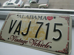 AMERICAN LICENSE PLATE FROM ALABAMA [VINTAGE VEHICLE]