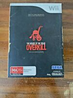 Wii Game: 'The House Of The Dead Overkill', Manual, Tested. PAL. GC. Free Post!