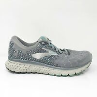 Brooks Womens Glycerin 17 1202831D070 Gray Running Shoes Lace Up Size 8 D Wide