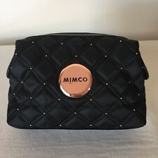 FREE POST MIMCO BLACK ROSE GOLD SMALL COSMETIC MAKE UP BAG Expandable RRP69.95
