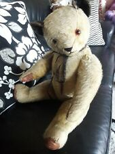 "Antique 25"" Chad valley English  large jointed mohair teddy bear sooty style"