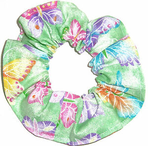 Hair Scrunchie Butterflies Butterfly Tie Ponytail Holder Scrunchies By Sherry