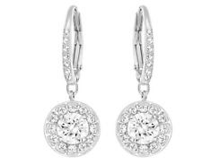 NIB SWAROVSKI  ATTRACT LIGHT PIERCED EARRINGS WHITE RHODIUM PLATING 5142721