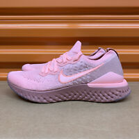 Nike Epic React Flyknit 2 Pink Tint/Rust Pink Women's Shoes Multi Sz BQ8927 600