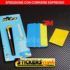 Kit Cutter OLFA - Spatola 3M con feltro - Spatolina di precisione CAR WRAPPING