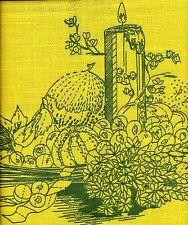 "Vintage 1974 Erica Wilson  HARVEST DESIGN Crewel Embroidery Kit - 14"" x 18"""