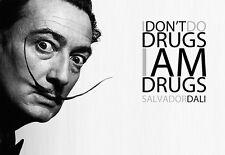 Art Poster Salvador Dali I dont do Drugs   Print