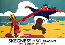 Skegness - Railway Travel A3 Art Poster Print
