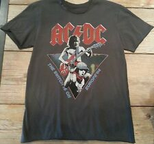 """Amplified ACDC """"The Switch is On"""" T Shirt  Vintage Washed Small, Last Ones!"""
