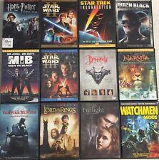 Lot #83D Sci-Fi Fantasy 18 Dvd's: Harry Potter Star Trek Pitch Black Star Wars