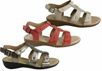 Brand New Hush Puppies Carmin Womens Comfortable Leather Adjustable Flat Sandals