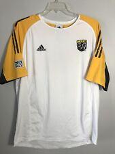Adidas Mens Crew Soccer Jersey SIze XL White Yellow Black