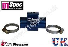 D1 Spec temperatura del agua calibre Adaptador conjunta Tubo Sensor 32mm Azul JDM racing