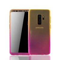Samsung Galaxy S9 plus Cellphone Case Protection Full-Cover Screen Yellow/Pink