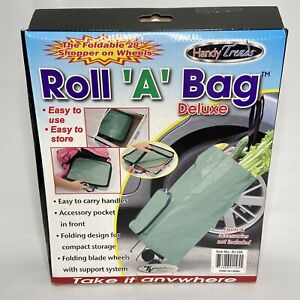 Roll 'A' Bag Deluxe Foldable Shopping Bag on Wheels Flea Markets Grocery Travel