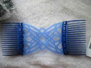 Scunci Comfy Comb Plastic Silicone Updo Stretch Style Hair Clip Black Blue Pink