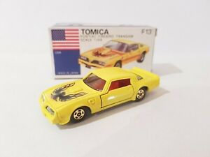 Tomica F13 - PONTIAC FIREBIRD TRANSAM [LIGHT YELLOW] MINT VHTF MADE IN JAPAN
