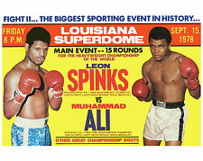 MUHAMMAD ALI vs LEON SPINKS 8X10 PHOTO BOXING POSTER PICTURE COLOR