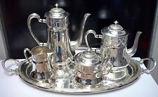 WONDERFUL ART NOUVEAU WMF Silverplate Coffee & Tea Set Floral Design MINT!!