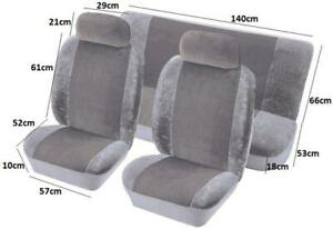 Airbag Safe Full Set Fabric Velour Seat Covers/Protectors Grey Colour For Isuzu