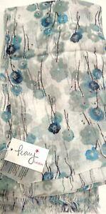 Peony Designer Scarves Poppy - White M-3151
