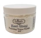 HONEY ALMOND Exfoliating Foaming Sugar Body Scrub, 10 oz jar
