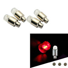 NEW 4 x RED Flashing LED Light Car Wheel Tyre Valve Lamp contour Safety light