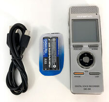 Olympus DM-450 Digital Stereo Voice Recorder MP3 & WMA. Built-in Mic, 533 Hours