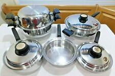 EUROPEAN LADY Waterless Cookware set T304 Stainless Steel West Bend USA