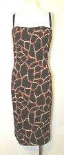 Dolce & Gabbana Dress Animal Print Corset Bra Cocktail Party Fitted Bodycon 46