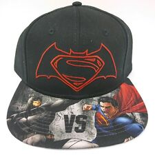 36d54bbbdbce1 Batman Superman Snapback Hat Lot 2 Adult Adjustable Black