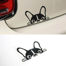 6inch Boston Terrier Dog Vinyl Decal Peeping Peek Puppy Car Tail Window Sticker