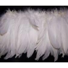 Goose Nagoire Feather Strung per 10cm - White