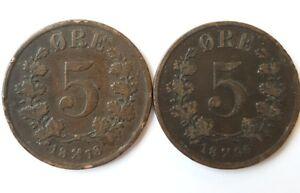 Set 2 Coins Norvège. (AV1209)