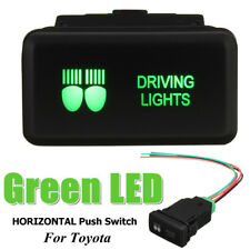 AU Replacement Push Switches LED Green for Toyota HILUX Landcruiser Prado HIACE Driving Light