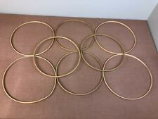 "Basket Weaving Wood Hoop Bases - Lot of 8 - Circle - 12"" - Rims - #17"