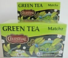 "Lot Of 2 Celestial Seasonings ""Green Tea"" Matcha Tea 20 Count Each"