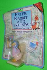 VIVID IMAGINATIONS PETER RABBIT AND FRIENDS JEMIMA PUDDLE DUCK FIG. ON CARD FLOC