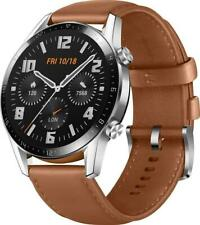 HUAWEI Watch GT 2 46mm Latona-B19V GT2 Smart Wrist GPS Leather Brown