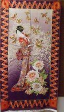 "1 Benartex ""Teahouse Geisha"" Oriental Fabric Panel 24"" x 44"""