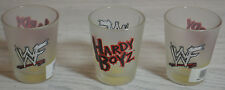 RARE LOT OF 3 VINTAGE OFFICIAL WWF SHOT GLASSES BRAND NEW THE HARDY BOYZ  /