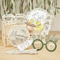 BOTANICAL BABY SHOWER PHOTO BOOTH PROPS - Gender Reveal Selfie Party Games