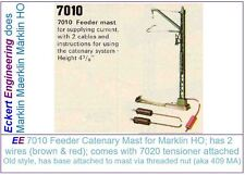 EE 7010 Early Style Feeder Catenary Mast New Cond w Long Wires and Instructions