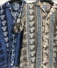 New listing Lot of 2 Men's Vintage Hawaiian Shirts Rjc Ltd Made in Hawaii Size Medium