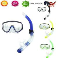 Adult Tempered Glass Diving Mask With Breathing Tube Snorkeling Package Set