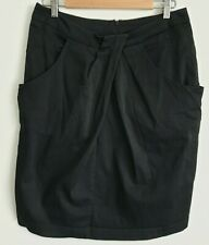 City Chic Black Pleat Office Career Skirt / Size 14