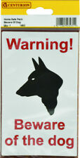 Warning Beware of the Dog Sticker Home Safe Twin Pack